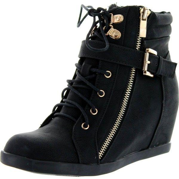 Best 25  Black wedge sneakers ideas on Pinterest | High heel ...