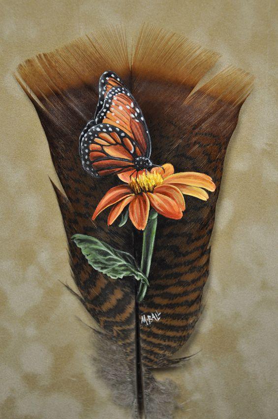 Feather Paintings   TurkeyTails.com - Custom Feather Art By Melissa Ball