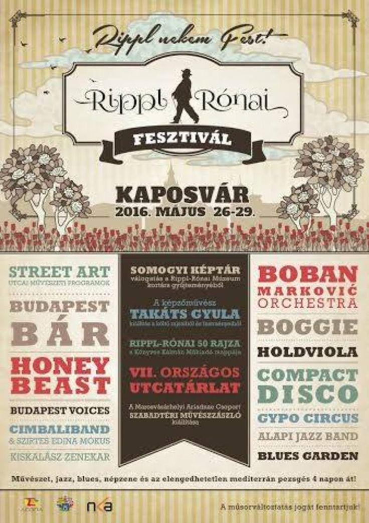 RIPPL-RÓNAI FESZTIVÁL - részletes program