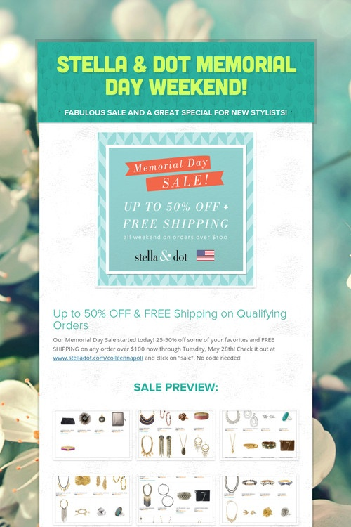 memorial day weekend online sales