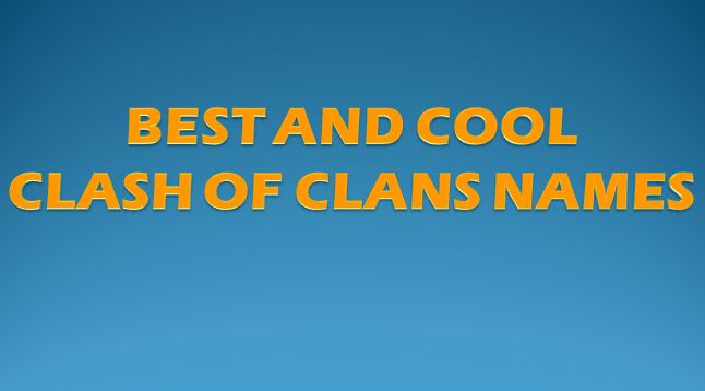 Cool Clan Names For CoD And CoC:When You Were a Child you were created you own World and made your own Name too. And In this Technology World, there were many Games which you can Play Online the Games such asMMORPGs and MOBAs.  Now When it Come to the Point The Signup of the …
