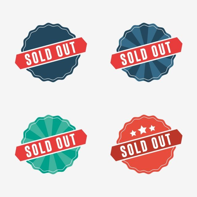 Sold Out Label And Banners Sold Out Banner Label Png And Vector With Transparent Background For Free Download Banner Vector Banner Labels