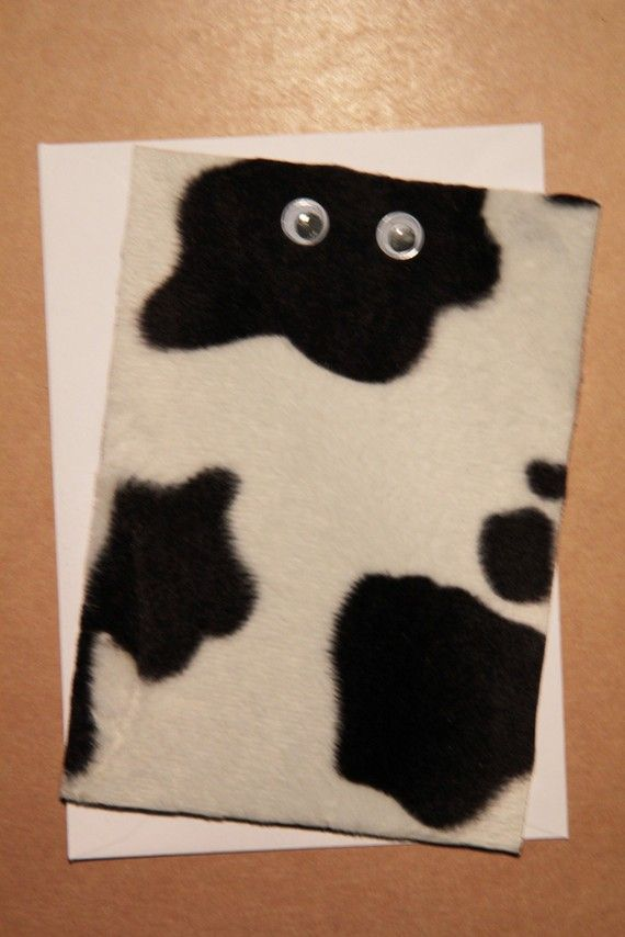 Handmade Cow Print Greetings Card by CardsbyFrankie on Etsy, £2.00