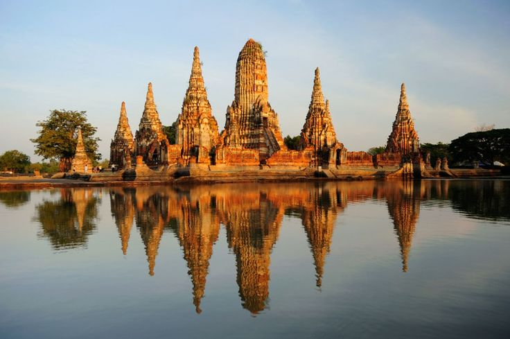 Wat Chaiwatthanaram Ayutthaya is the old capital of Thailand and home to the ruins of Wat Chaiwatthanaram, among many other structures. Find it an hour or two upriver from Bangkok.