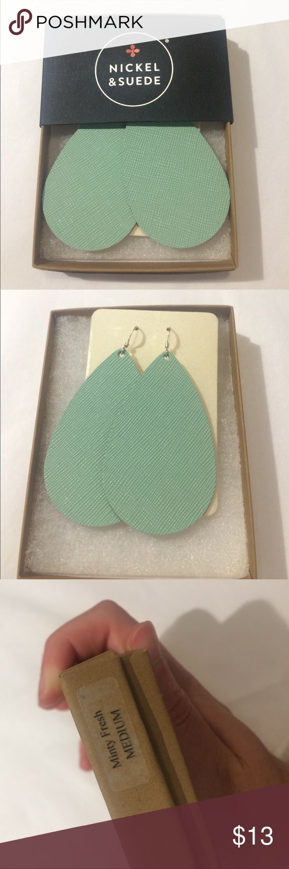 Nickel and Suede Mint earrings New. Never worn. Nickel & Suede Jewelry Earrings