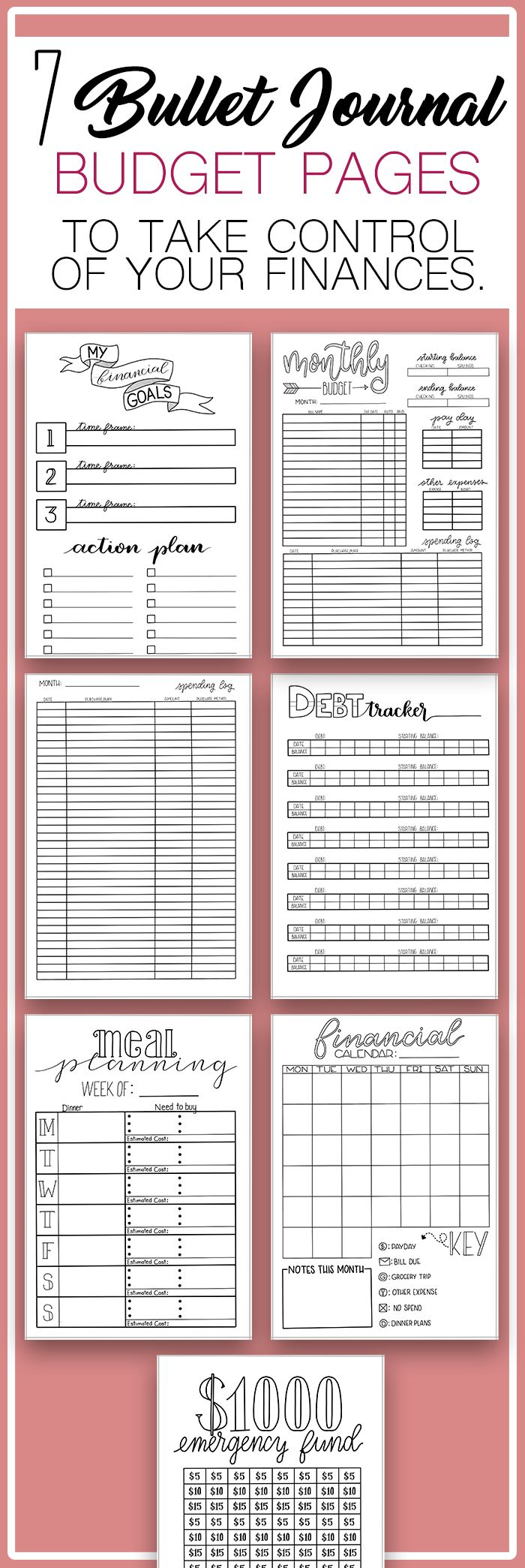 The Ultimate Bullet Journal Budget Setup Check out…