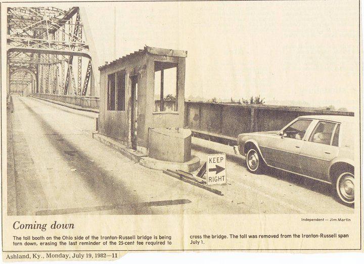 Toll Booth On The Ironton Rus Bridge Oh