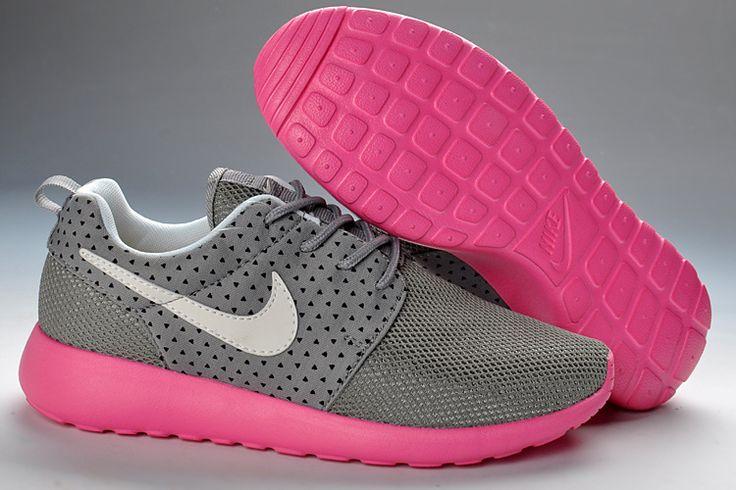 Wmns Nike Roshe Run Wolf Grey Peach Pink