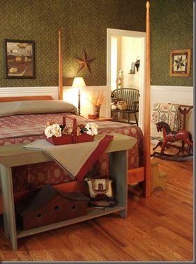 lovely primitive bedroom