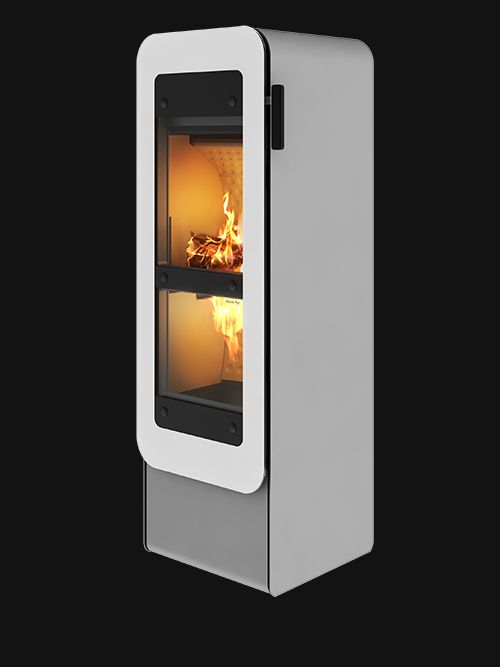 The beautiful #bionicfire #fireplace from #RAIS is available in more colors. #Bionic #brændeovn  Se more here: http://uk.rais.com/stove/rais-bionic-fire.aspx