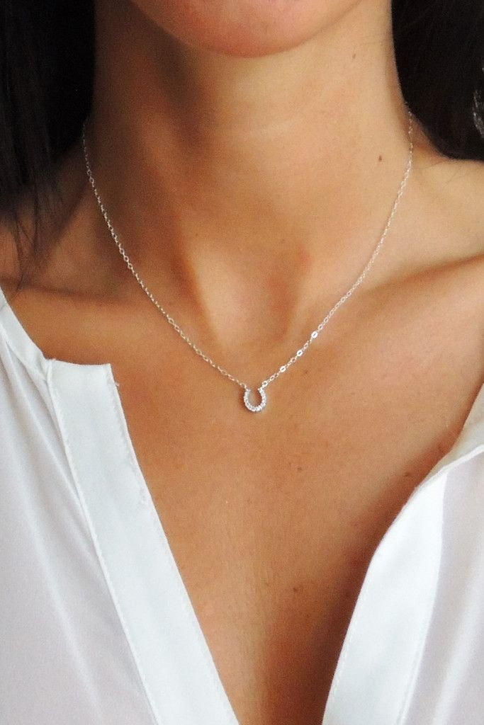 LUCKY YOU HORSESHOE NECKLACE - Christine Elizabeth Jewelry™ | Glamour and Glow