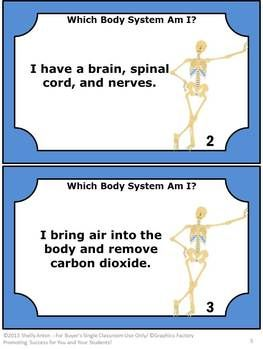 Which Body System Am I? Task Cards and More! - This 36 page packet has several fun science activities to help your students learn about the body systems. You will receive 26 Which Body System Am I? task cards, student response form plus key, Matching Game task cards, student response game form plus key, and 10 more fun ideas to use these task cards! #science #taskcards