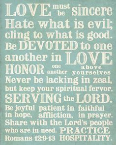 romans 12:9-21 - Google Search