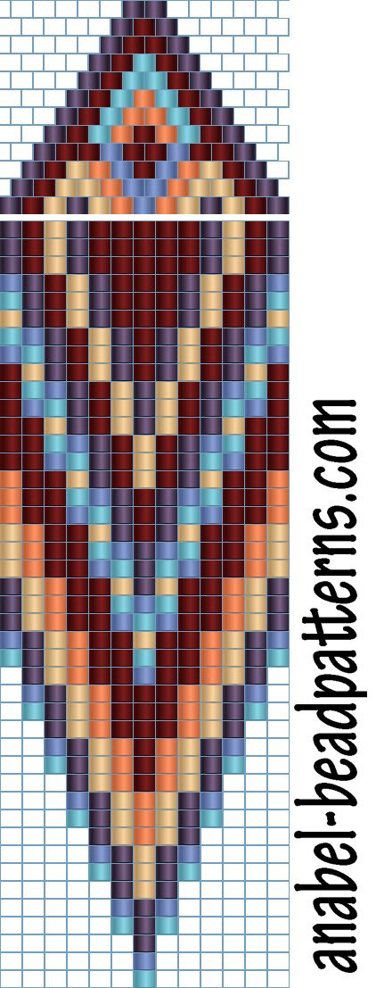 Schemes earrings - tiling / brick weaving | - Plans for beading / Free bead patterns -