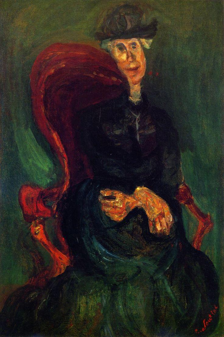 chaïm soutine(1894-1943), seated  woman, c. 1923-24. oil on canvas, 82 x 56 cm. private collection http://www.sothebys.com/en/auctions/ecatalogue/2013/impressionist-modern-art-evening-sale-n09035/lot.65.html; http://www.the-athenaeum.org/art/detail.php?ID=56673