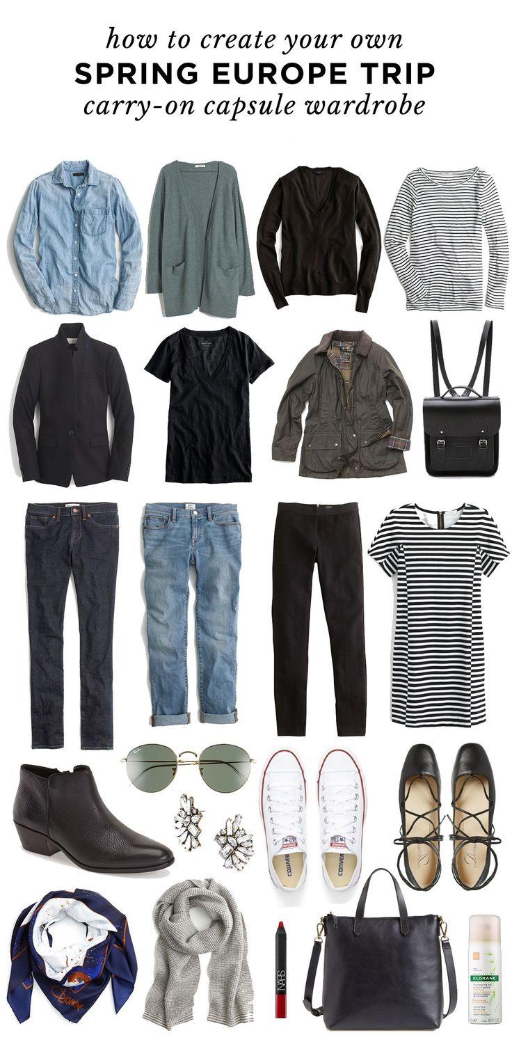 Um guarda-roupa de cápsula de viagem: sua melhor lista de embalagem   – Wardrobing