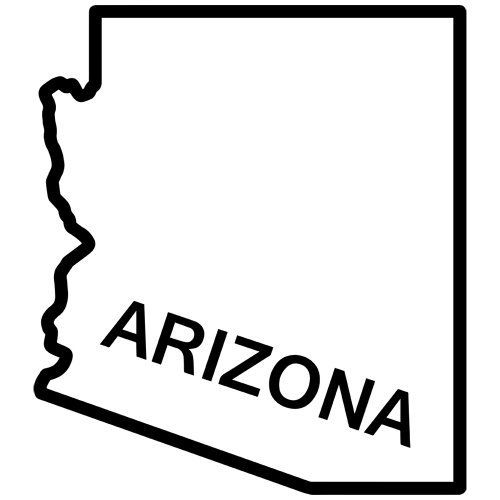 Arizona State Outline Decal Sticker Available In 19 Colors Drawings Pinterest State