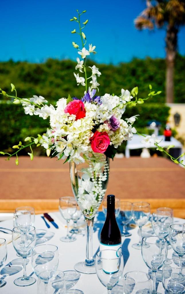 Tall Wedding Centerpiece, Orchids, Hydrangea, Roses, Baltimore