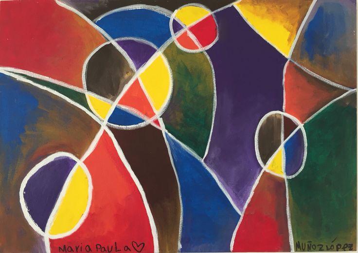 Abstractideño  70x50 Óleo al agua sobre lienzo Arte abstracto, cubismo