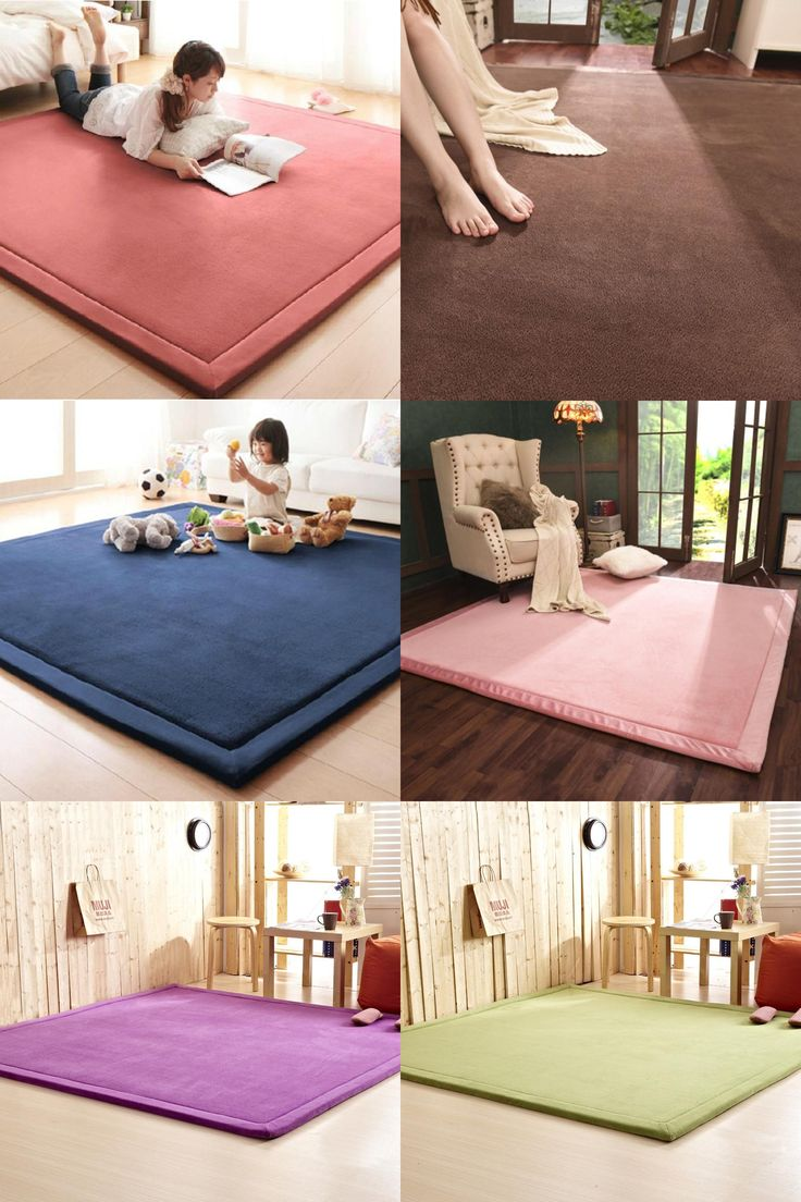 Now their family has a great room where they can lounge and -  Visit To Buy 2cm Thick Coral Fleece Mat Carpet 180 200 2cm