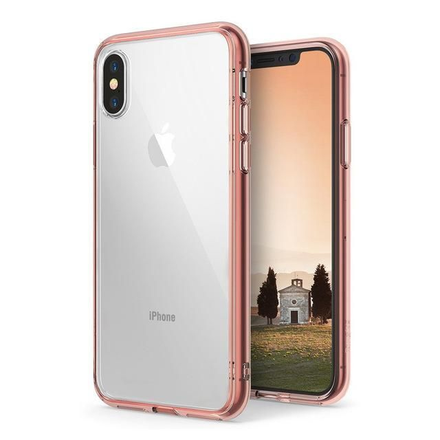 Ringke Fusion Case for iphone X Case Clear PC Back and Soft TPU Frame Hybrid Military drop tested #iphonexdroptest,