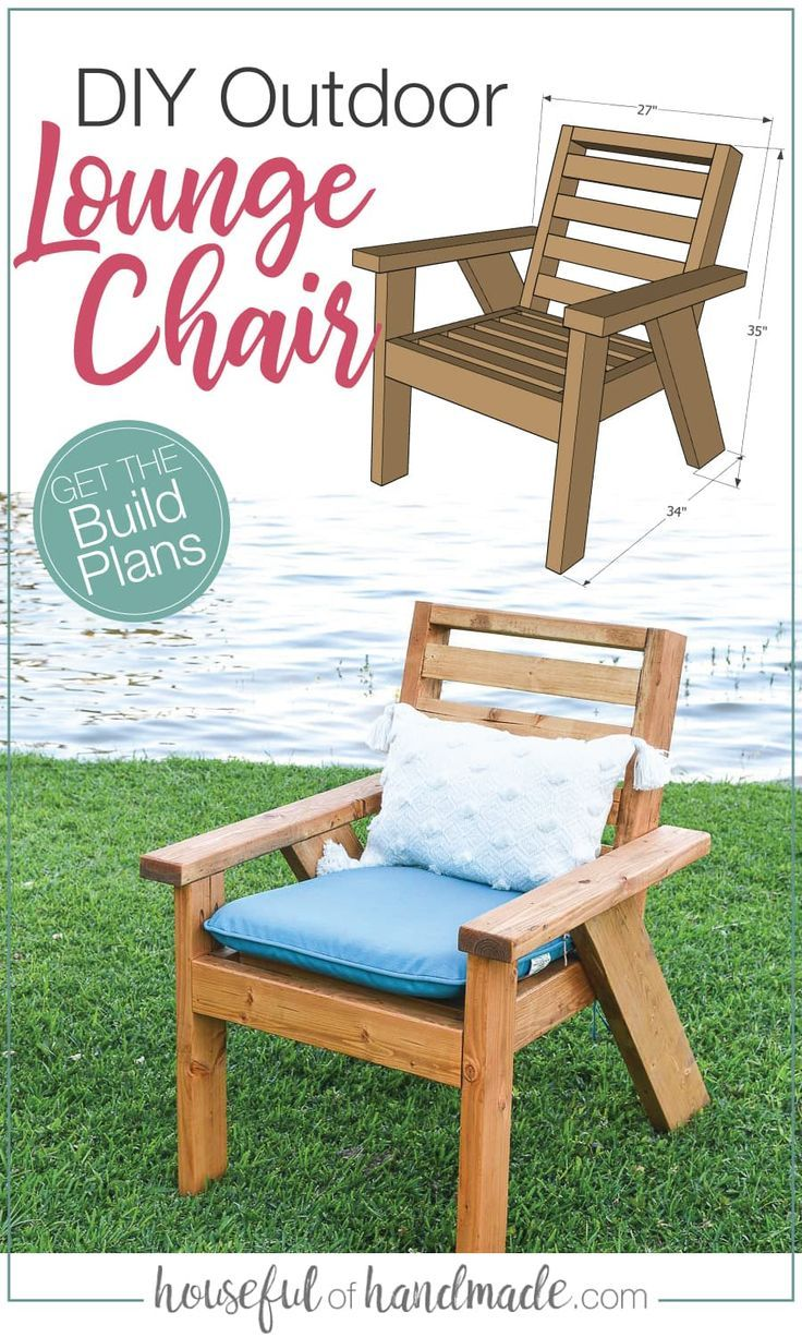 Outdoor Lounge Chair Build Plans In 2020 Outdoor Chairs Diy Patio Chairs Diy Pallet Furniture Outdoor