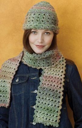 Free Crochet Hat & Scarf Pattern.
