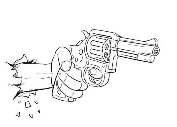 One Line Art Gun : Ben heine pencil vs camera tutorial d gun drawing