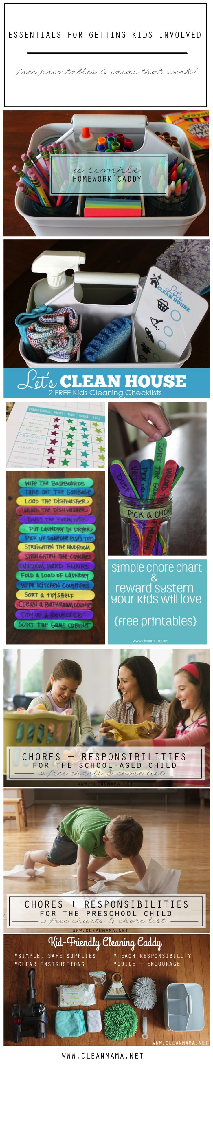 Essentials for Getting Kids Involved In Cleaning   Organizing. 348 best images about clean    cleaning routine on Pinterest