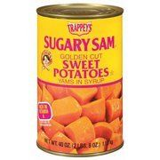 Sugary Sam Golden Cut Sweet Potatoes (Yams) in Syrup 40oz Can (Pack of 4)