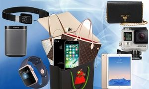 Groupon - Santa's Mystery Sack £7.99-£16.99 with Chance to Get Gold Macbook, iPhone 7, LV/Prada Bag or Apple Watch. Groupon deal price: £7.99