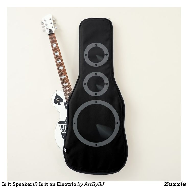 Is it Speakers? Is it an Electric Guitar Case? . .Is it Both? . .   Funny Guitar Case - a Great Birthday Present or Christmas Gift for an Electric Guitar player.