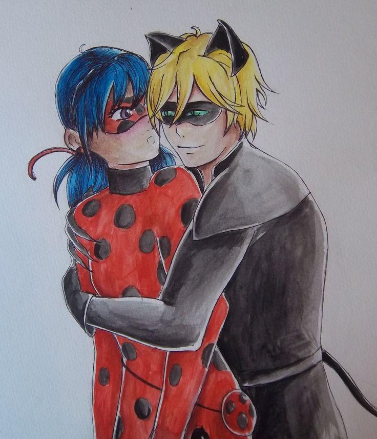 Miraculum: Biedronka i Czarny Kot Miraculous LadyBug & Chat Noir fanart, watercolor