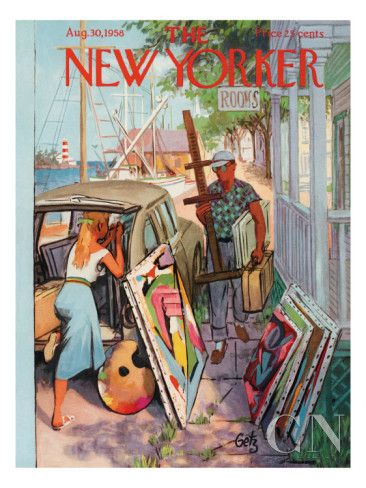 The New Yorker Cover - August 30, 1958 Premium Giclee Print
