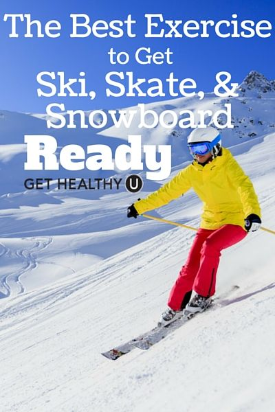 This exercise will prepare you for the slopes and get you ski, skate and snowboard ready!