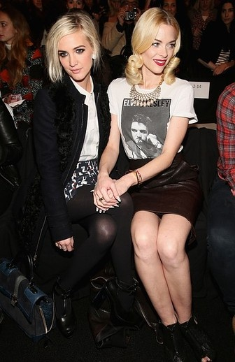 Ashlee Simpson & Jamie King at Rebecca MInkoff