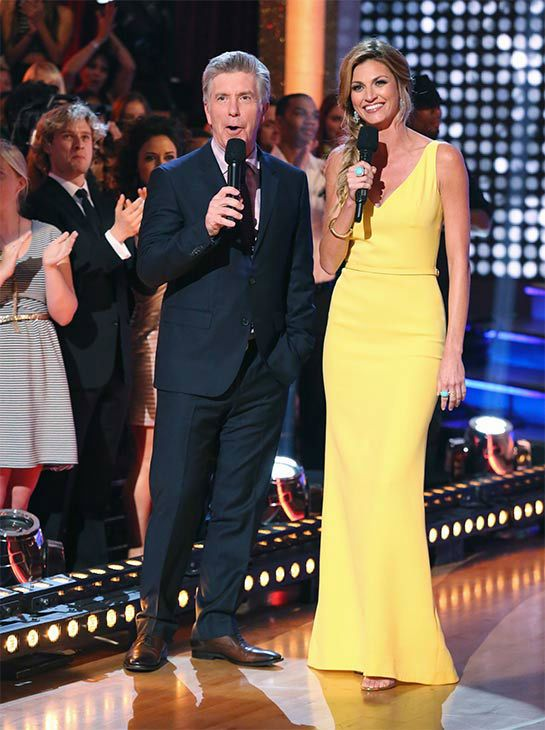 Tom Bergeron and Erin Andrews appear on 'Dancing With The Stars' season 18 on May 19, 2014.