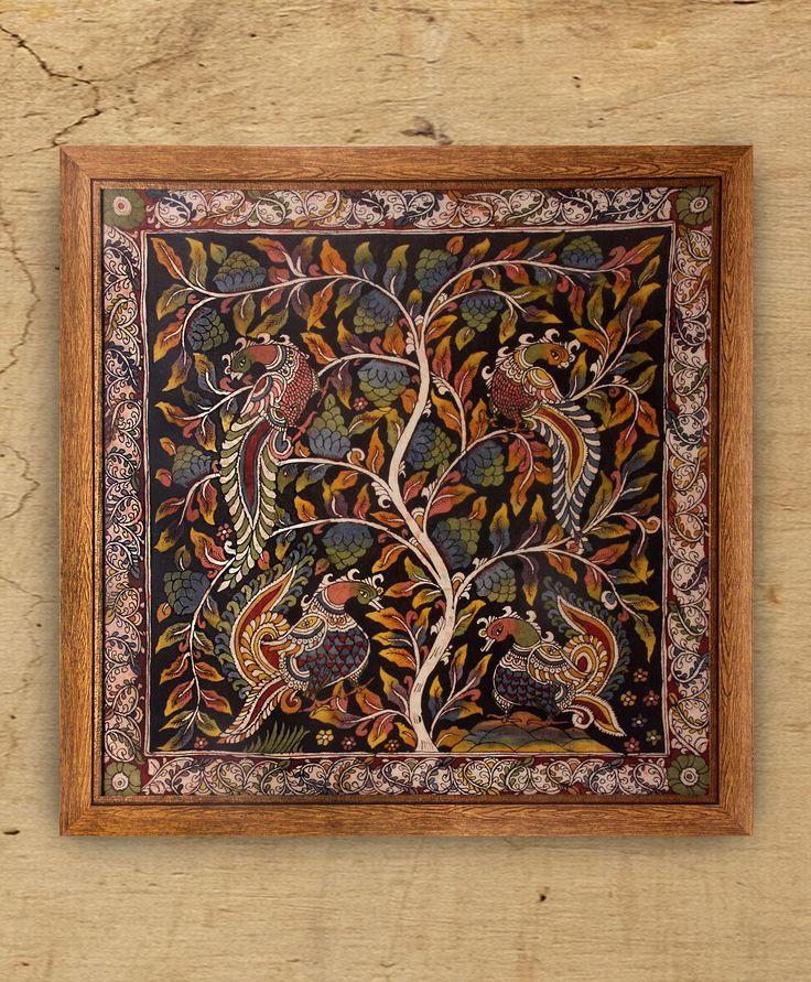 Four for Fortune - Original Kalamkari on Fabric