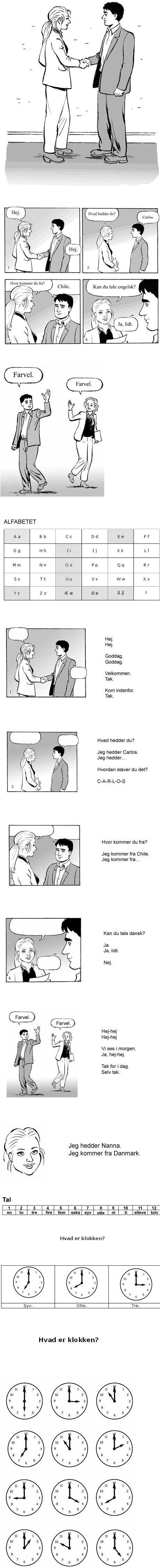 Kan du tale dansk - lektion 1