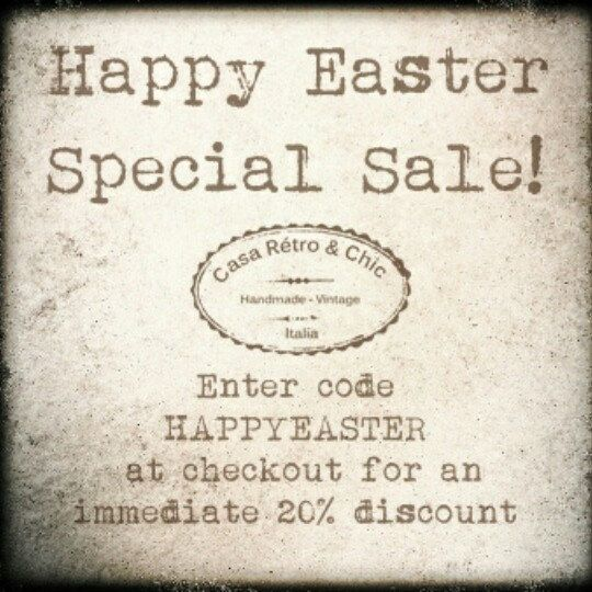 Easter weekend Special!