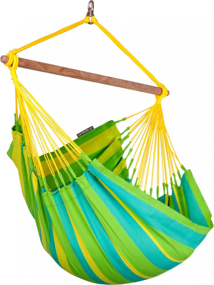 La Siesta Sonrisa 1-persoons hangstoel  La Siesta Sonrisa Staat er in je tuin een stevige boom waar je uitstekend een hangstoel of hangmat aan op kunt hangen? Laat je dan in onze webshop inspireren door de vele mogelijkheden. Of je nu op zoek bent naar een relaxte hangstoel of een kingsize familie hangmat bij ons ben je aan het juiste adres! Indien je een kleurrijke hangstoel in zomerse kleuren wilt die je het gehele jaar buiten kunt laten hangen dan is de La Siesta Sonrisa een absolute…