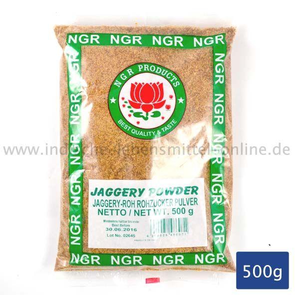 NGR, Rohrzucker-Pulver, Brauner Zucker aus Zuckerrohr, unraffiniert,  Jaggery, 500g