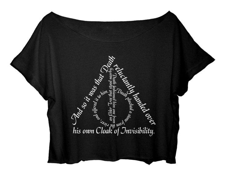 ASA Women's Crop Top Harry Potter Quotes Shirt Chronicles the Adventures T-shirt (Black)