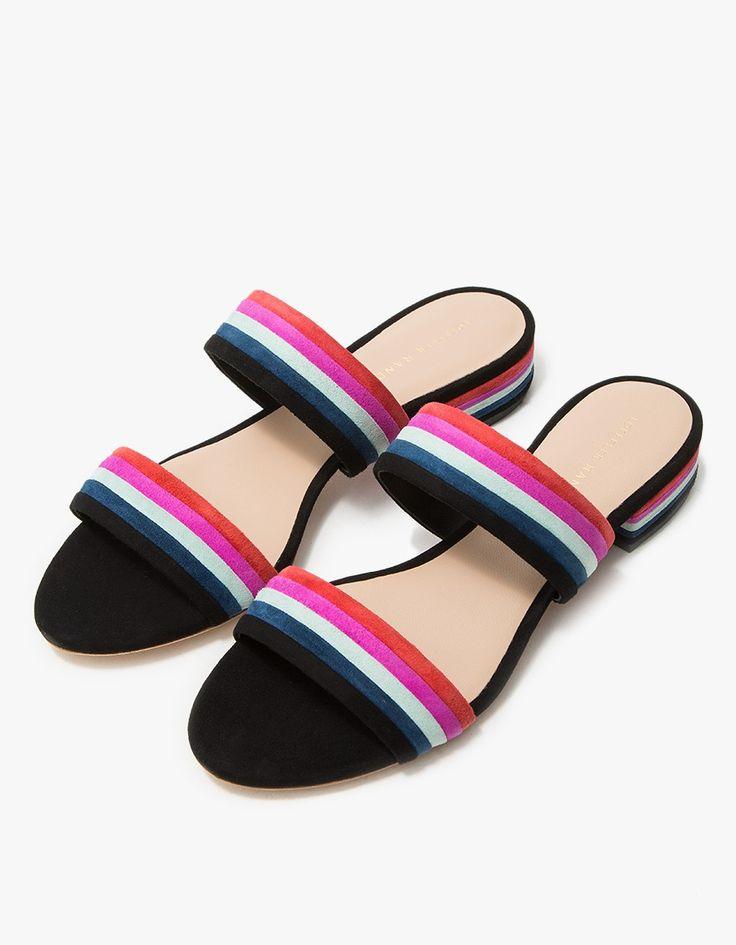Loeffler Randall / Rubie in Black Multi Stripe