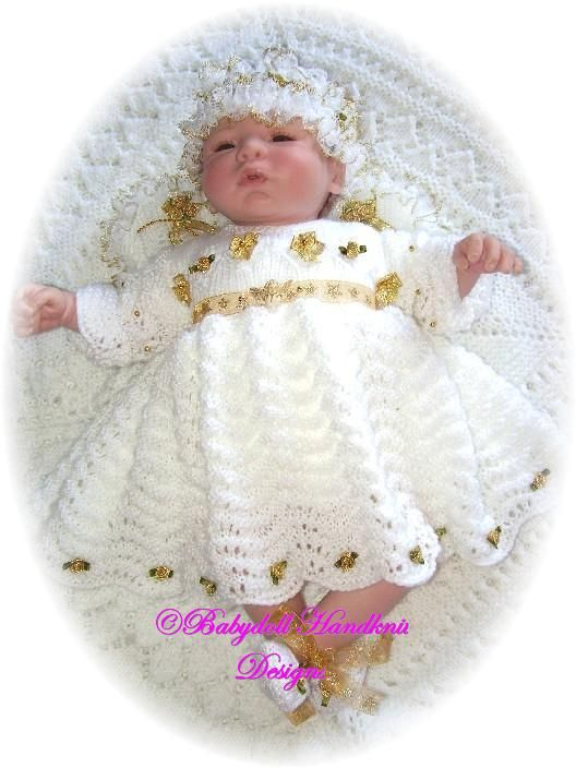 "Christmas Angel Outfit knitting pattern16-24"" dolls-christmas, angel"