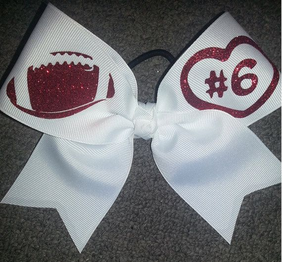 FOOTBALL BOW Support your Boyfriend/ by ThingsToCheerAbout on Etsy, $11.00