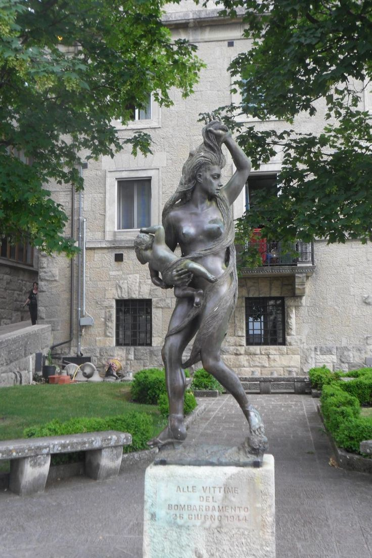Sculpture Mother and Child (memorial statue) - City of San Marino