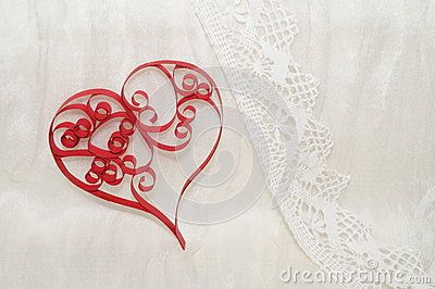 Paper heart on a white background