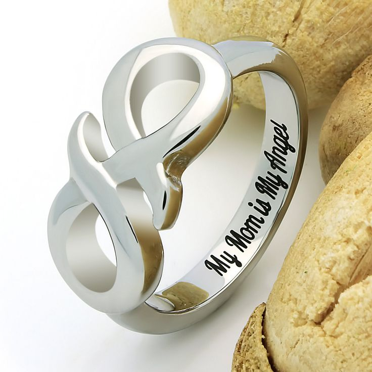 "If you are looking for a perfect mother gift, this Infinity Ring is the best choice for you. It looks so nice, every woman would like to have such an elegant ring in her jewelry collection. Its design is neutral and suits women of all ages. The engravings ""My Mom is My Angel"" can help you to tell your mom so much about your feelings towards her."