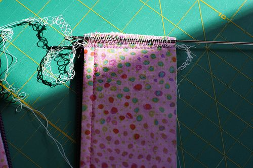 How to Bury Serger Threads using a loop turner -- photo tutorial